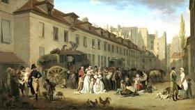 Louis-Léopold Boilly: Die Ankunft der Postkutsche