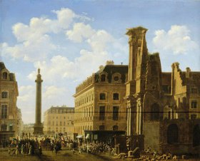Etienne Bouhot: Place de Vendome in Paris