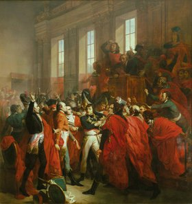 François Bouchot: General Bonaparte beim Konzil der Fünfhundert in St. Cloud, 10. November