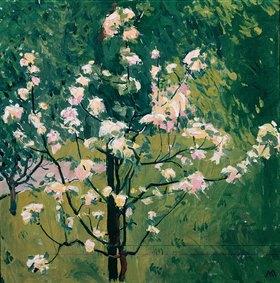 Koloman Moser: Blühender Baum im Garten