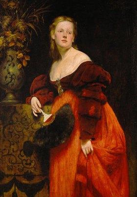 Hans Makart: Opernsängerin Karoline Gompertz (1845-1925), geb. Bettelheim, Bildnis