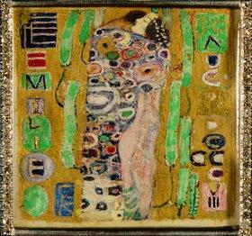 Gustav Klimt: Brosche zum 34. Geburtstag von Emilie Flöge. (Motiv von 'Der Kuss')