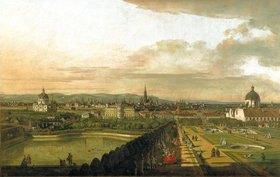Bernardo (Canaletto) Bellotto: Wien vom Belvedere aus