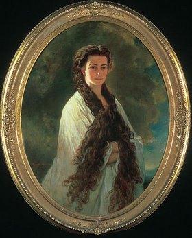 Franz Xaver Winterhalter: Kaiserin Elisabeth von Österreich im Morgenlicht. 1864. Kopie von E. Riegele