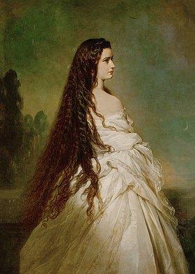 Franz Xaver Winterhalter: Kaiserin Elisabeth von Österreich mit langfallendem Haar