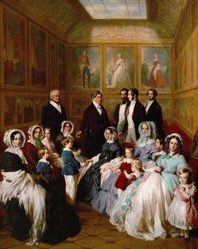 Franz Xaver Winterhalter: Königin Victoria von England und Prinz Albert zu Gast bei König Louis Philippe