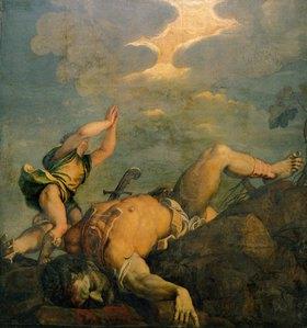 Tizian (Tiziano Vecellio): David und Goliath