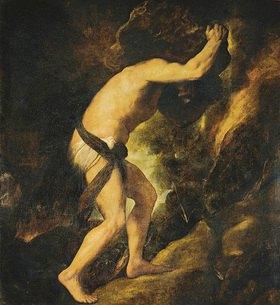 Tizian (Tiziano Vecellio): Sisyphus. 1547/1548 für Königin Maria von Ungarn gemalt