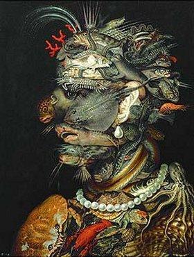 Giuseppe Arcimboldo: Allegorie Wasser. 1566 für Kaiser Maximilian II. gemalt