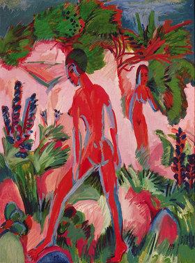 Ernst Ludwig Kirchner: Rote Figuren