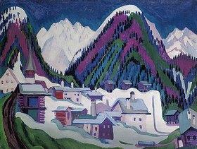 Ernst Ludwig Kirchner: Dorf Monstein bei Davos