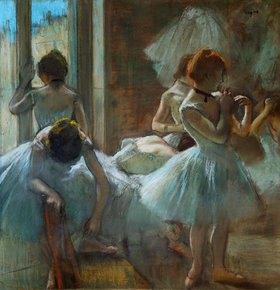 Edgar Degas: Blaue Tänzerinnen in der Pause