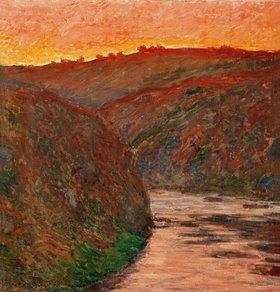Claude Monet: Flussbiegung im Abendrot