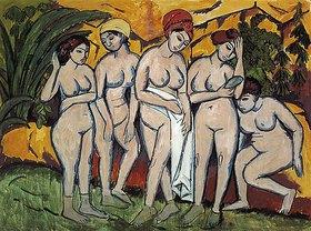 Ernst Ludwig Kirchner: Frauen im Bade