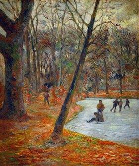 Paul Gauguin: Eisläufer im Park von Schloss Frederiksborg