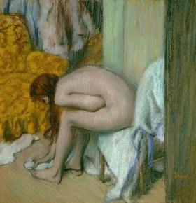Edgar Degas: Weiblicher Akt, einen Fuss abtrocknend