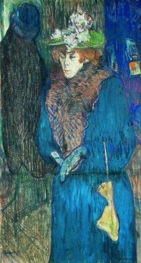 Henri de Toulouse-Lautrec: Jane Avril beim Betreten des Moulin Rouge