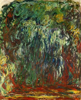 Claude Monet: Trauerweiden in Monets Garten
