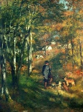 Auguste Renoir: Der Maler Le Coeur im Wald von Fontainebleau