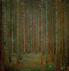 Gustav Klimt: Tannenwald