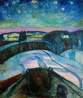 Edvard Munch: Sternennacht. 1923/1924.