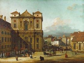 Bernardo (Canaletto) Bellotto: Die Freyung in Wien, von Nordwesten gesehen