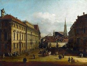 Bernardo (Canaletto) Bellotto: Das Palais Lobkowitz und der Lobkowitz-Platz in Wien