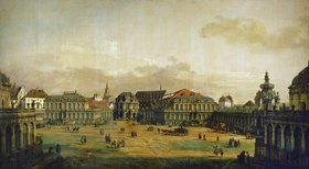 Bernardo (Canaletto) Bellotto: Der Zwingerhof in Dresden