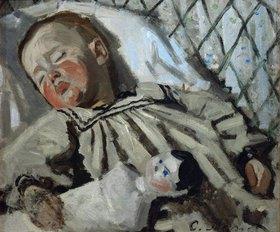 Claude Monet: Der kleine Jean Monet, schlafend