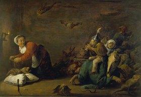 David Teniers: Hexenspuk. Holz, 30 x 45 cm