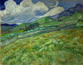 Vincent van Gogh: Berglandschaft hinter dem Hospital Saint-Paul