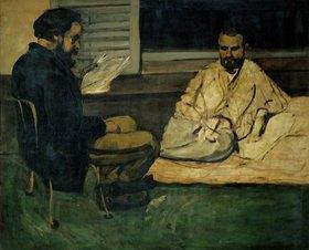 Paul Cézanne: Paul Alexis, Sekretär von Emile Zola, liest Emile Zola vor. 1869/1870