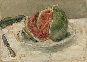 Max Slevogt: Stillleben mit Wassermelone