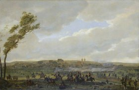 """Wilhelm von Kobell: Das Gefecht bei Wertingen am 8.10.1805 (aus dem """"Berthierzyklus"""")"""