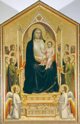 Giotto di Bondone: Die Madonna in der Glorie. (Madonna di Ognissanti) - restauriert