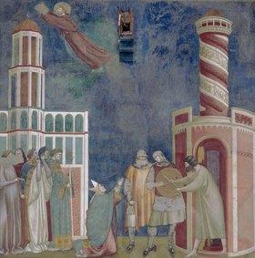 Giotto di Bondone: Der hl. Franziskus befreit den Häretiker Petrus von Alife aus dem Gefängnis