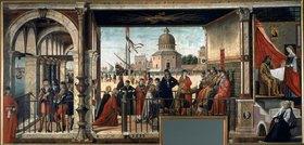 Carpaccio/Scarpazza: Die Ankunft der englischen Botschafter (Zyklus aus dem Leben der Hl. Ursula)