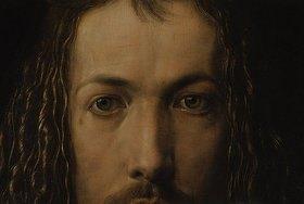 Albrecht Dürer: Selbstbildnis im Pelzrock. Detail: Augen