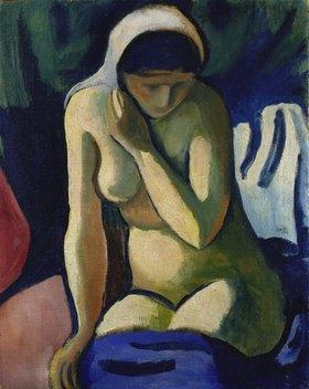 August Macke: Nacktes Mädchen mit Kopftuch