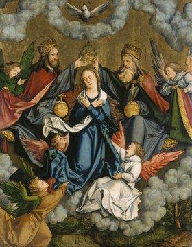 Hans Schäufelein: Christgartner-Altar. Die Krönung Mariae