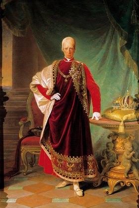 Friedrich von Amerling: Franz II./I. im Ornat des Ordens vom Goldenen Vlies