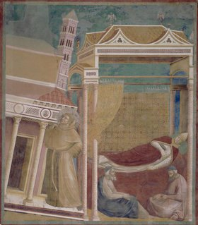 Giotto di Bondone: Der Traum des Hl. Innozenz III