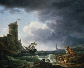 Claude Joseph Vernet: Schiffbruch im Sturm vor einer Festung