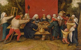 Pieter Brueghel d.J.: Geschenke für die Braut