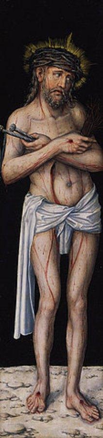 Lucas Cranach d.Ä.: Kreuzigungstriptychon: Schmerzensmann