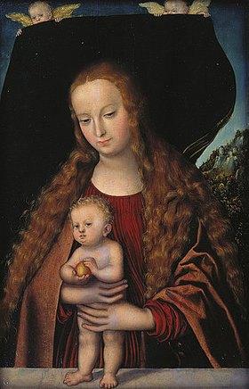 Lucas Cranach d.Ä.: Maria und das Jesuskind mit einem Apfel