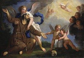 Gregorio Lazzarini: Der heilige Franziskus empfängt die Stigmata