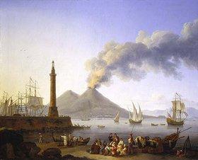Jacob Philipp Hackert: Der Hafen von Santa Lucia in Neapel