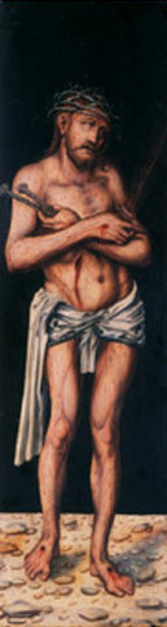 Lucas Cranach d.Ä.: Schmerzensmann (Rückseite, linker Seitenflügel)