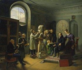 Carl Christian Vogel von Vogelstein: David d'Angers modelliert die Büste Ludwig Tiecks
